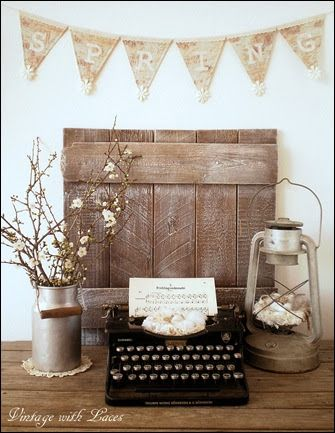 Spring Vignette - Vintage with Laces