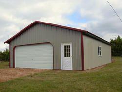 26 X 27 X 8 Garage Menards 6 800 Pole Barn Garage Pole Barn House Kits Pole Barn House Plans