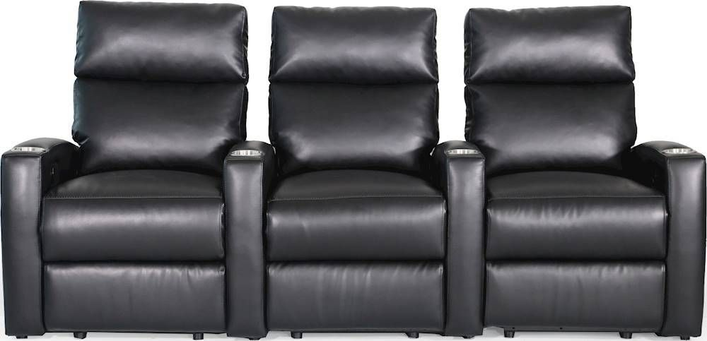 Spectra Ovations 3 Seat Power Recline Home Theater Seating Black Home Theater Seating Theater Seating Home Theater