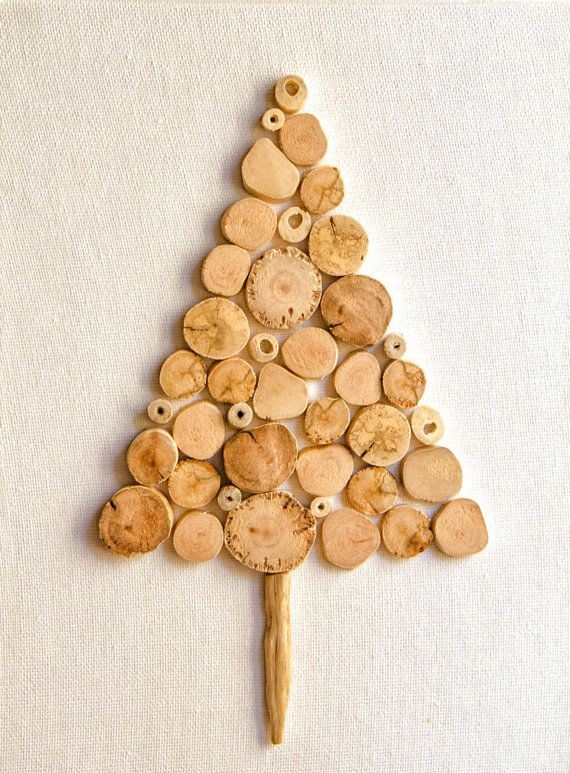 Pre-Christmas Sale,Driftwood Christmas Tree on canvas,Wooden - wood christmas decorations