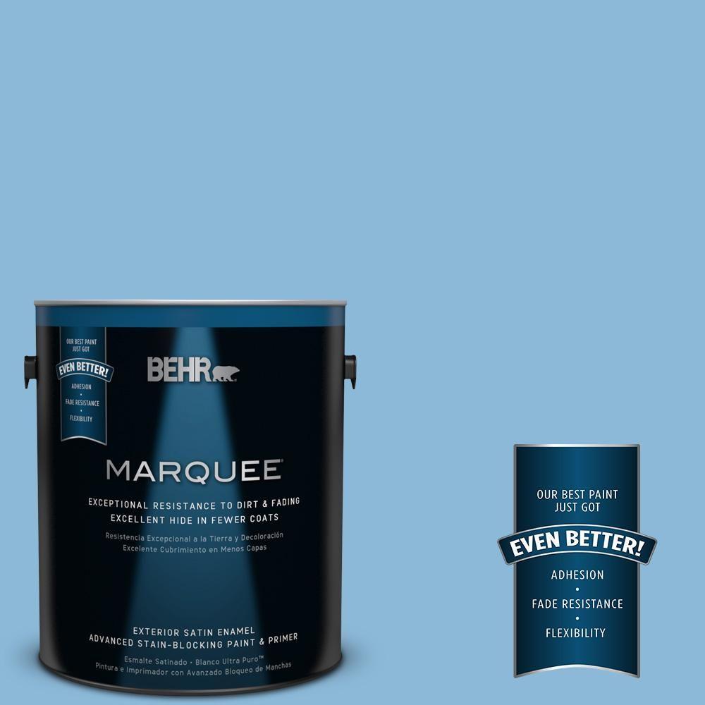 BEHR MARQUEE 1-gal. #MQ5-55 Simply Posh Satin Enamel Exterior Paint