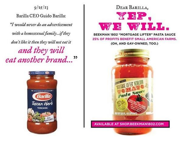 Awesome alternative pasta brand ad in the wake of Barilla