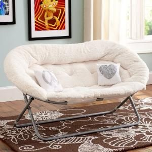 Sherpa Double Hang A Round Chair | PBteen