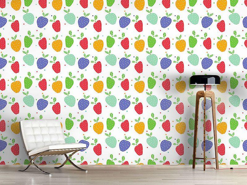 Design #Tapete Äpfel Auf Punkten