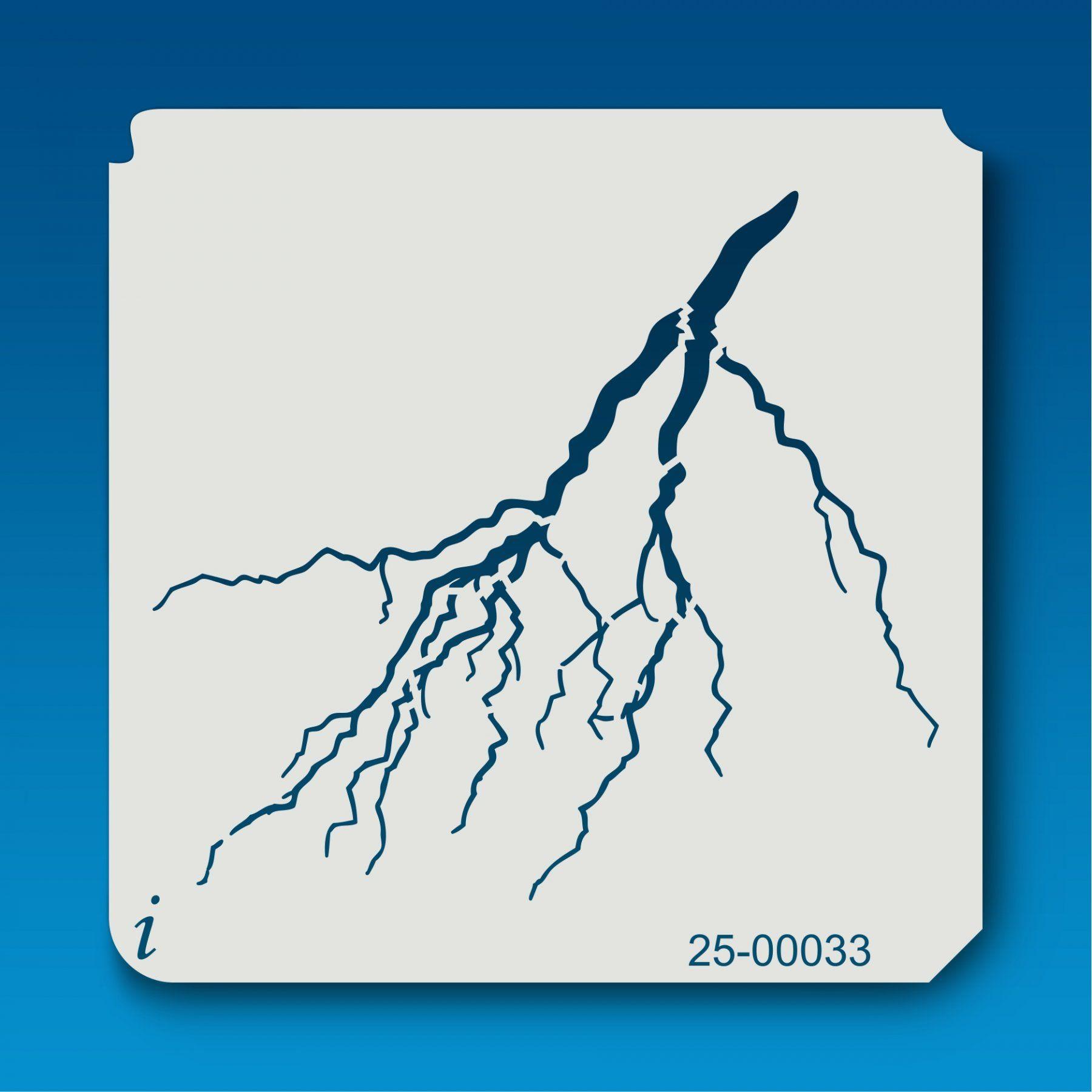 25 00033 Lightning Stencil Graffiti Lettering