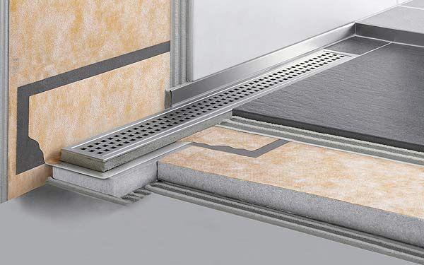 schl ter kerdi line f r bodenebene duschen fliesen leo. Black Bedroom Furniture Sets. Home Design Ideas