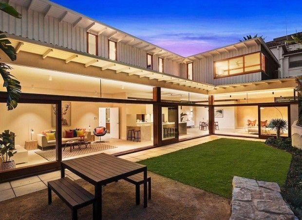 บ านร ปต ว L เป ดโปร งเช อมต อก บสวน เพ อความส ขของคนท กว ย บ านไอเด ย แบบบ าน ตกแต งบ าน เว บไซต เพ Bali House Australia House House Architecture Design