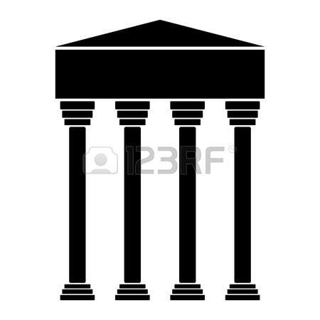 ic ne de la Banque sur fond blanc illustration vectorielle  Banque d'images