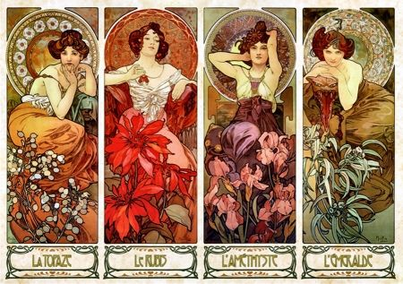 cb1b2039c9d Image result for mucha The precious stones and flowers