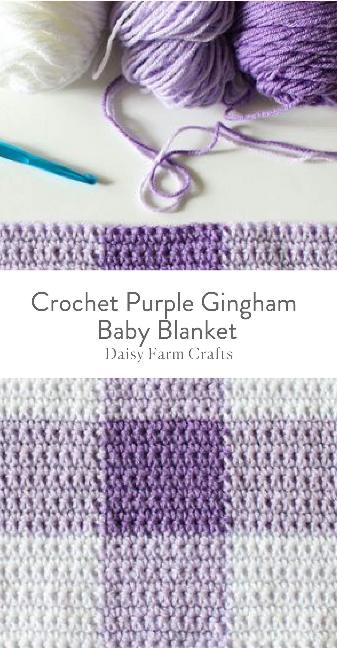 Crochet Purple Gingham Baby Blanket - Free Pattern | Crochet ...