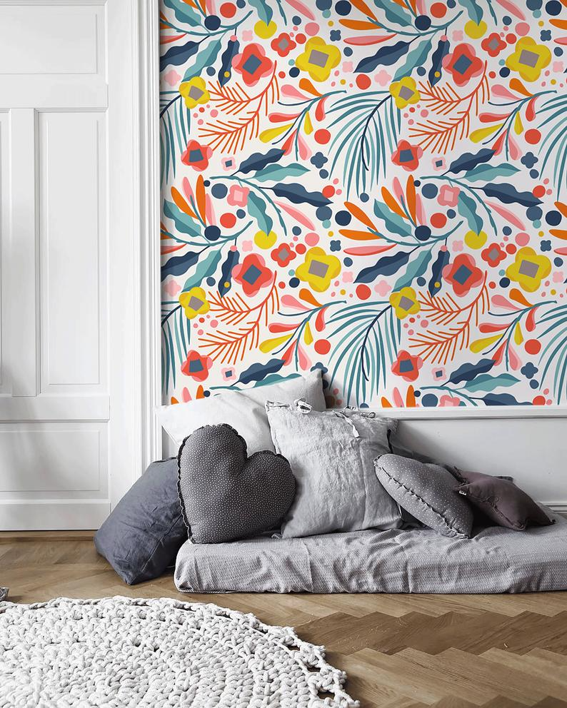 Removable Wallpaper Peel And Stick Wallpaper Wall Paper Etsy In 2020 Removable Wallpaper Peel And Stick Wallpaper Wall Wallpaper