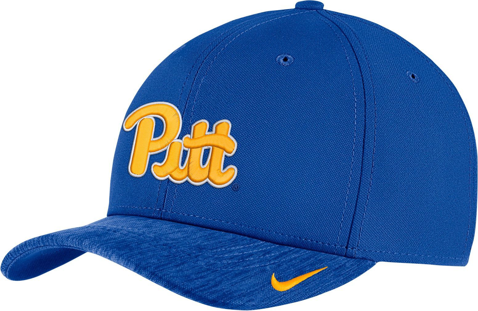 sports shoes a3a13 42a28 Nike Men s Pitt Blue Aerobill Swoosh Flex Classic99 Football Sideline Hat,  Team