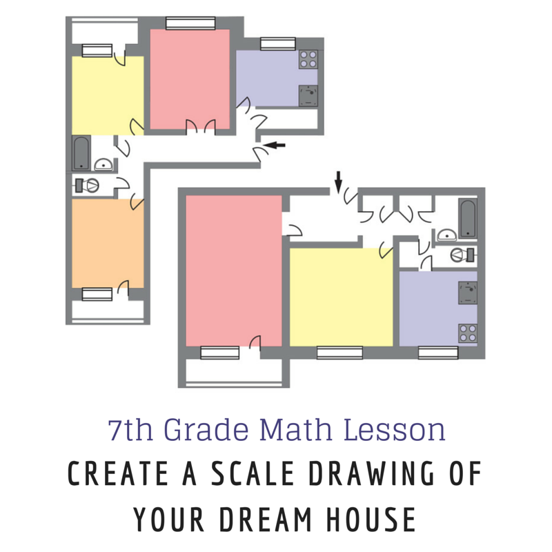 7th Grade Math Lesson Create A Scale Drawing Of Your Dream House