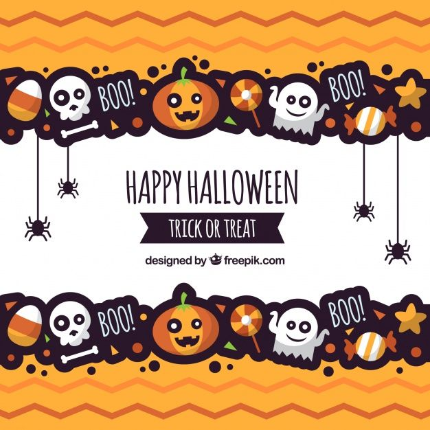 Halloween background with fun style Free Vector | Pumpkin party ...