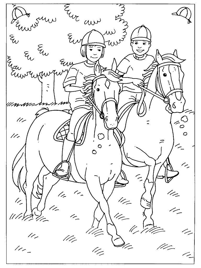 pin tamara kerp op kleurplaat paard met afbeeldingen