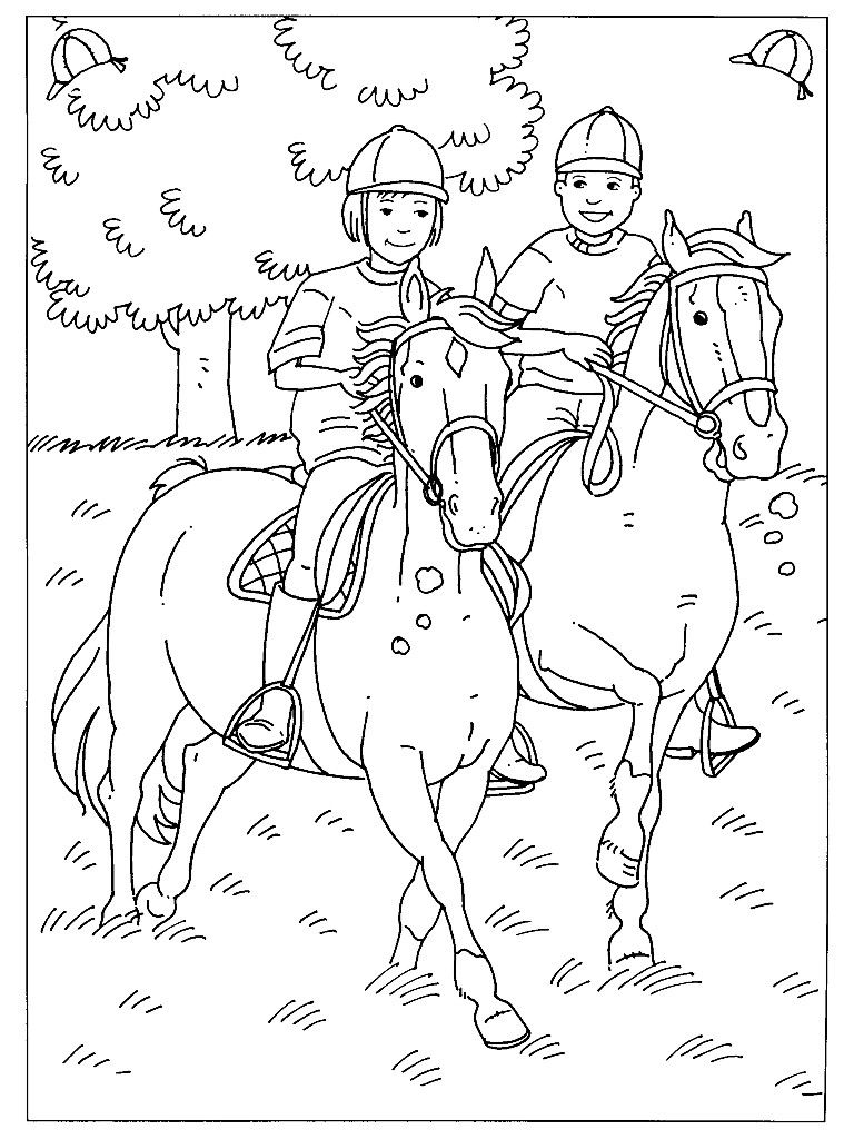 pin tamara kerp op kleurplaat paard kleurplaten