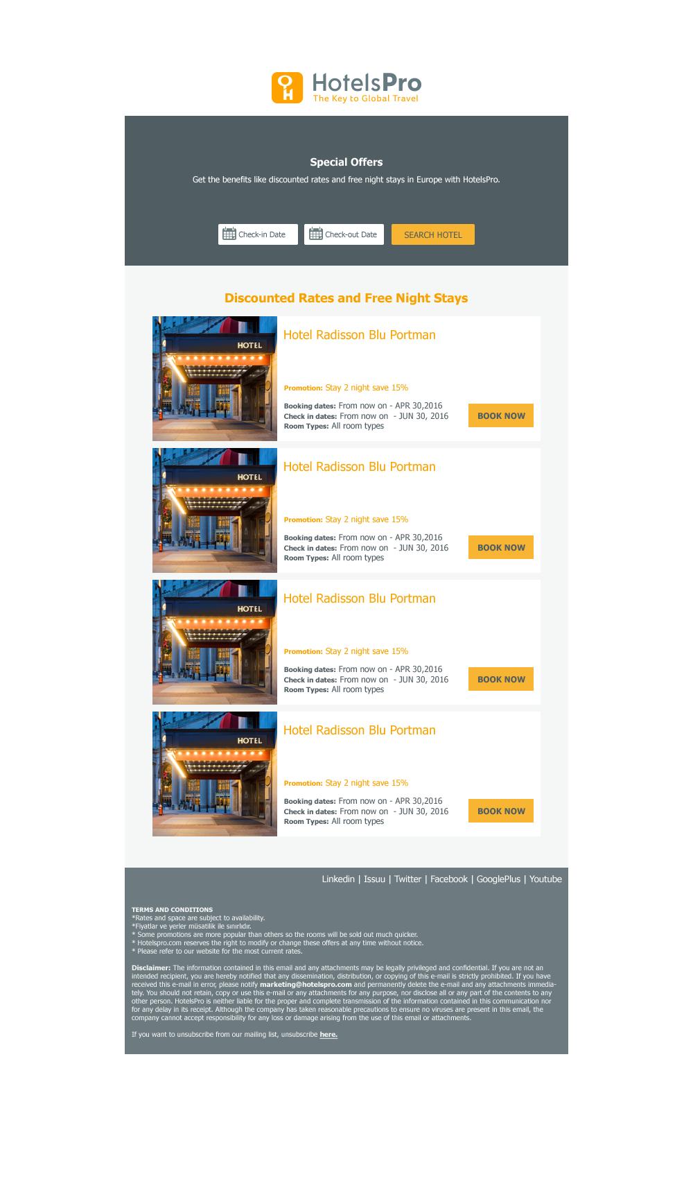 Html Hotel Offer Email Design #Newsletter #Responsive #Hotel ...