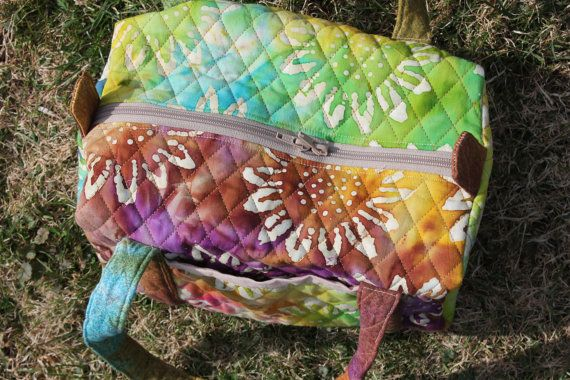 small duffel quilted duffel batik quilted duffel by Chrispurses, $28.00