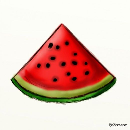 How To Draw A Watermelon Watermelon Drawing Watermelon Painting Easy Drawings