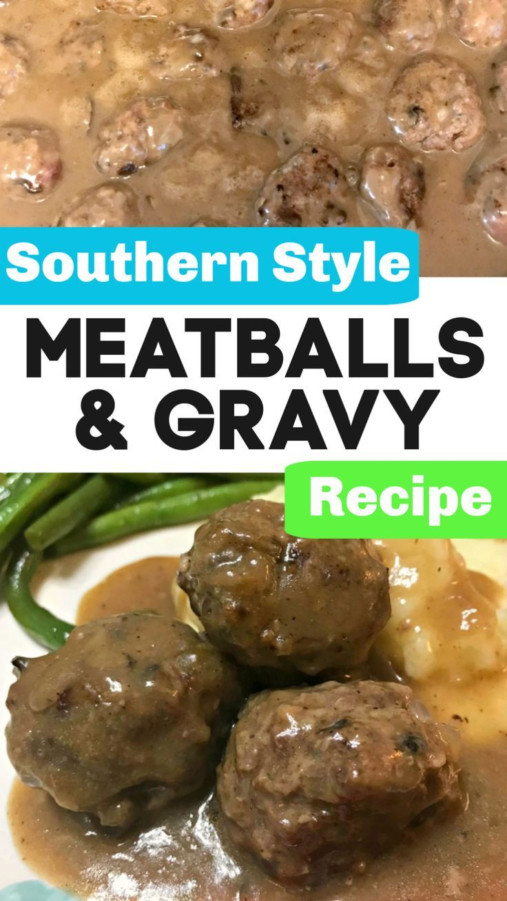 This Southern Style Meatballs and Gravy recipe pairs so well with rice, egg noodles, or mashed potatoes for a delicious weeknight homecooked meal!