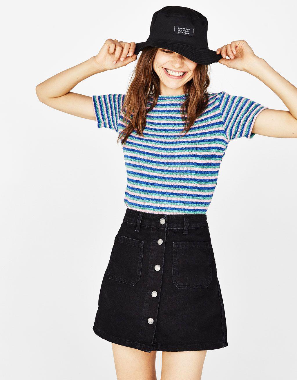 e20cb5de Jeansowa spódnica z guzikami | zakupy | Spódnica, Guziki i Kobieta