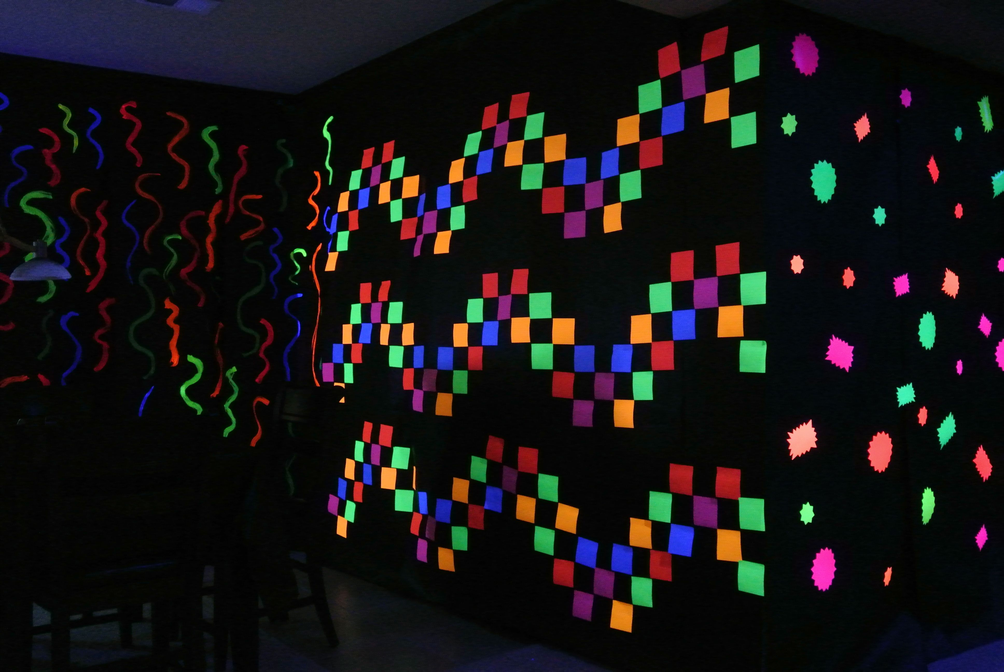 Post It Notes Black Light Neon Party Blacklight Party Neon Birthday Party