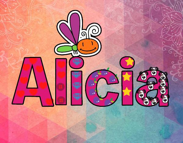 Dibujo De Mi Nombre Alice O Alicia Pintado Por En Dibujos Net El Nombres Nombres De Ninas Frases Con Nombres