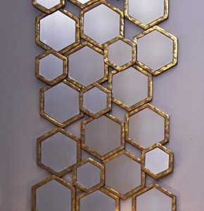 Geo Luxe Mirror From Dunelm Gold Hexagon