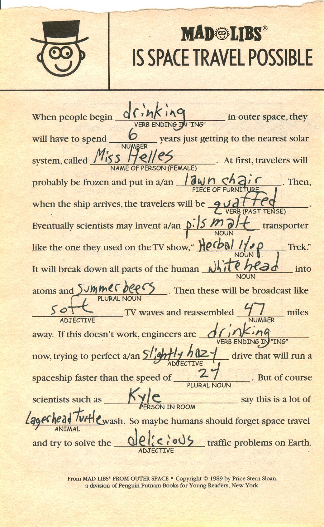 Dirty Mad Libs For Adults
