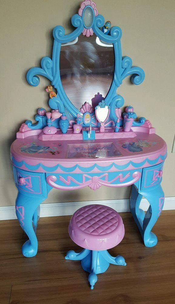 Disney Princess Cinderella Magical Talking Vanity Complete Very Rare Disney Disney Princess
