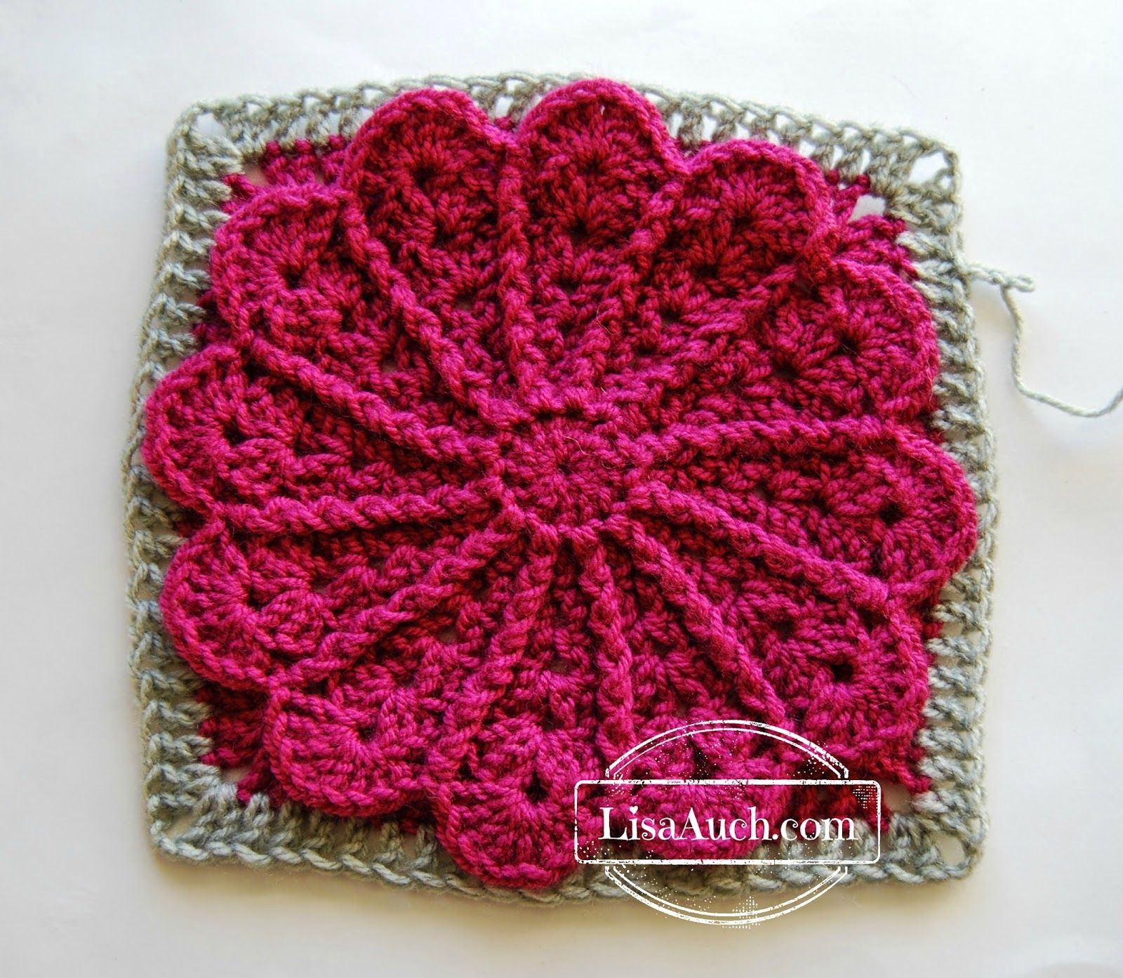 12 inch Afghan Square Photo Tutorial Pane in My Dahlia | Quadrate ...