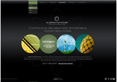 Alternative Power Dynamic Web Template Free Download - Dynamic web template