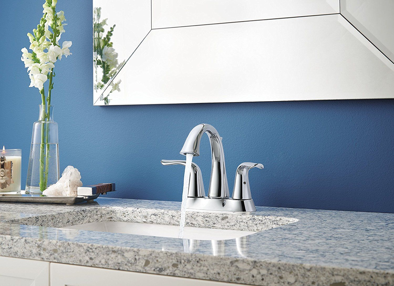 Delta 2538 Mpu Dst Lahara Two Handle Centerset Bathroom Faucet