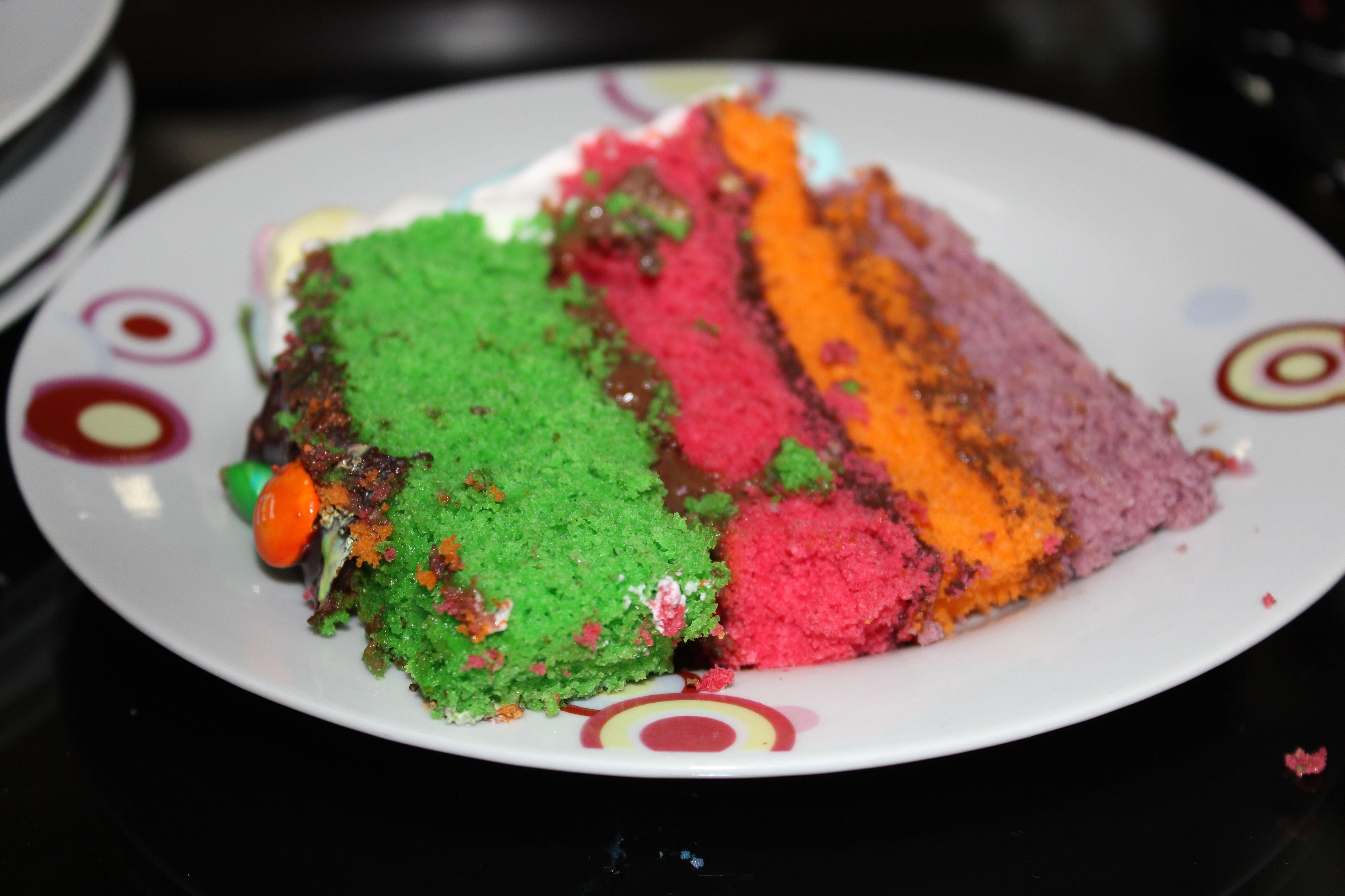 um bolo colorido, para uma morg colorida <3