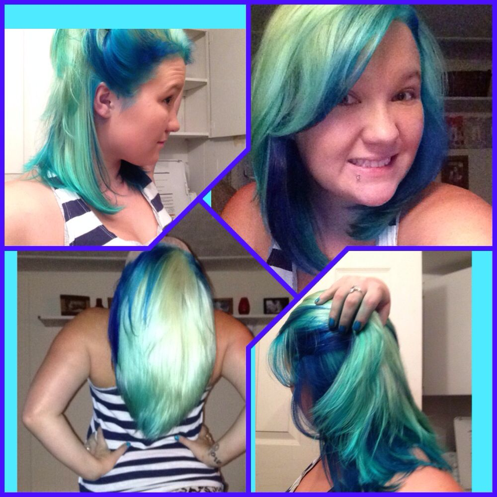 Mermaid Hair Splat Aqua Rush Hair Dye 7 98 At Walmart Did This