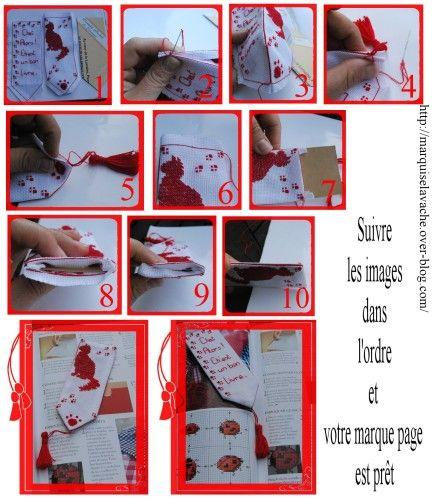 Tuto Marque Page Couture A Tout Prix Marque Page Point De Croix Broderie Point De Croix