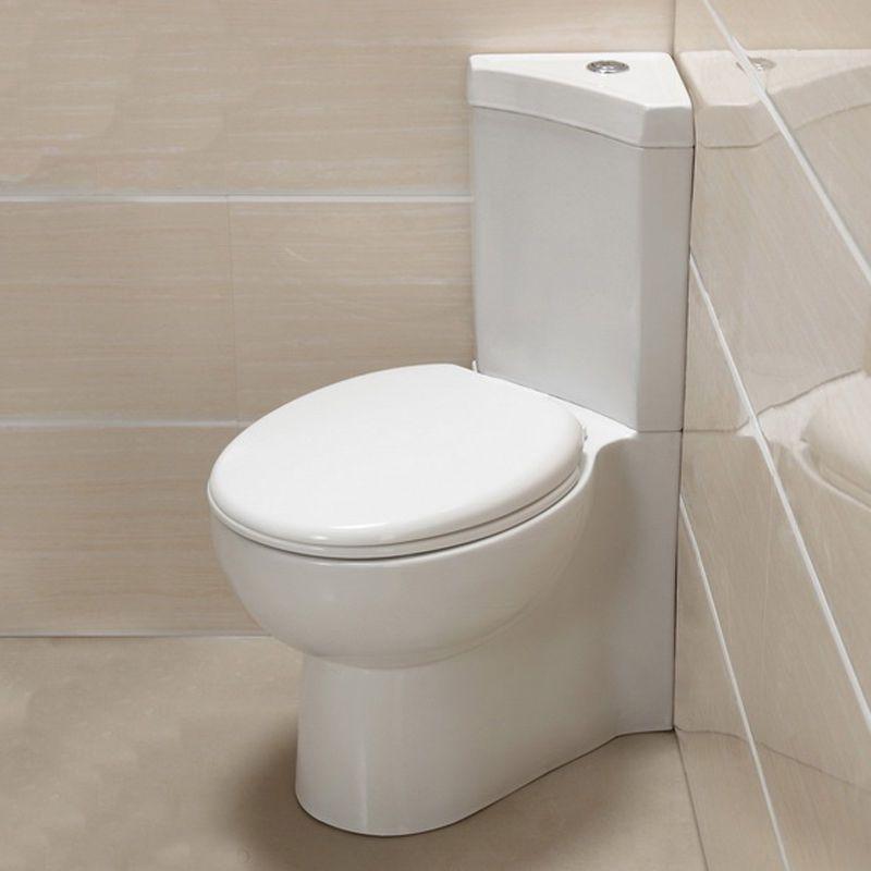 Bathroom Wc Cloakroom Corner Close Coupled Toilet Pan Cistern Soft Close Seat Idei Dlya Doma Dlya Doma Tualet