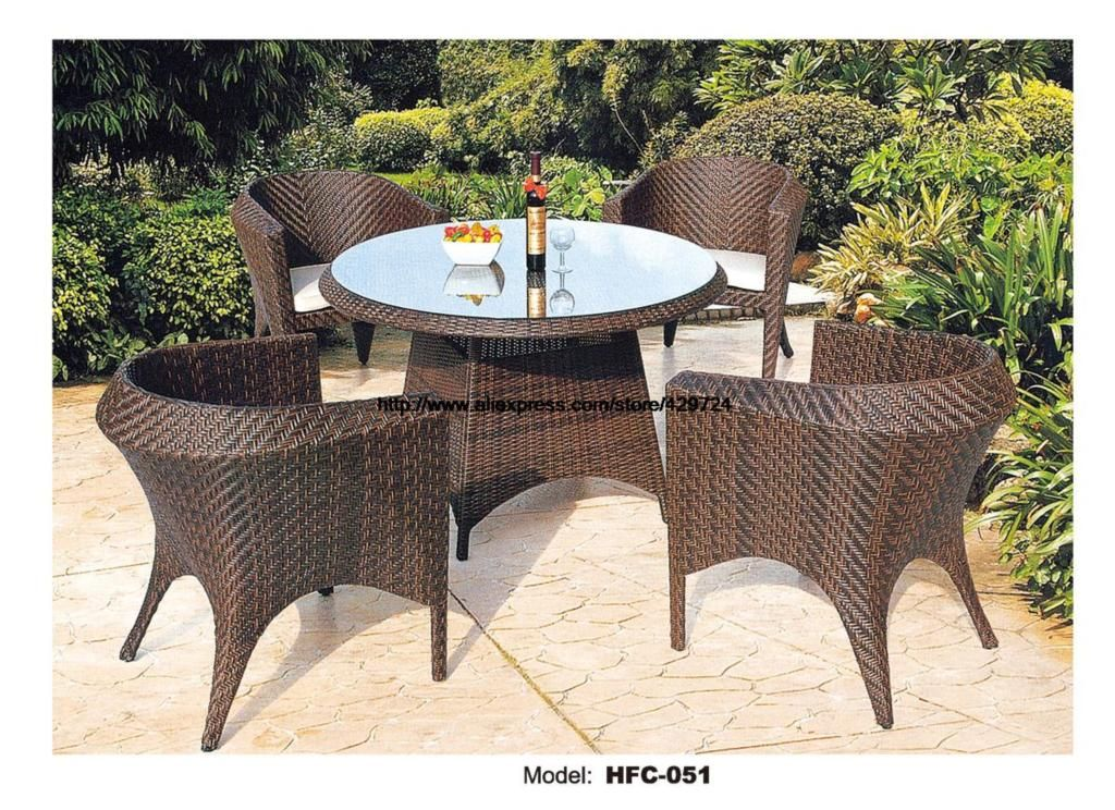 Small Round Outdoor Garden Table Chair Set Holiday Beach Swing