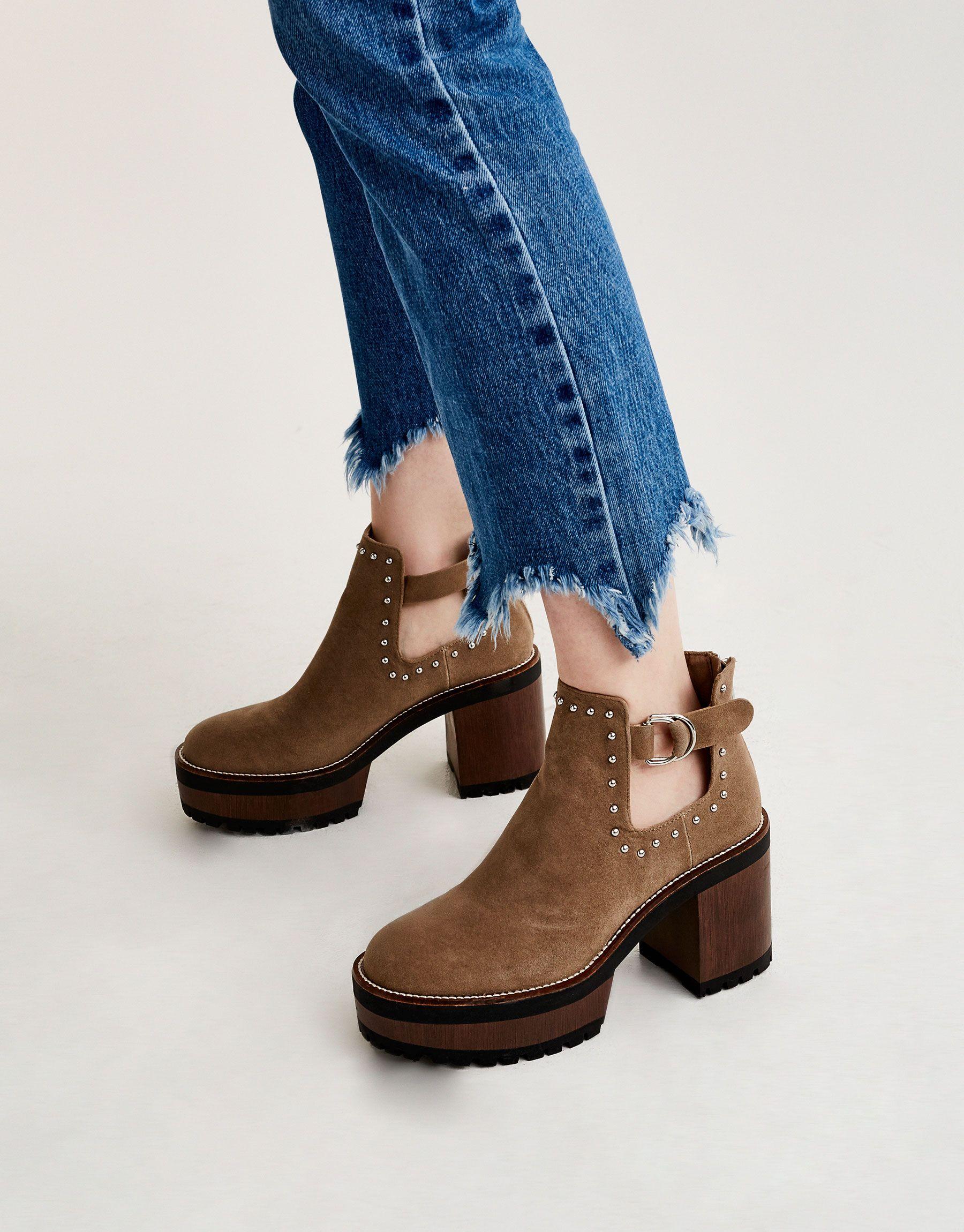 Señoras PUNTOS ENCAJE CIERRE ADHESIVO TIRA Hi Top Botines Casuales Zapatos