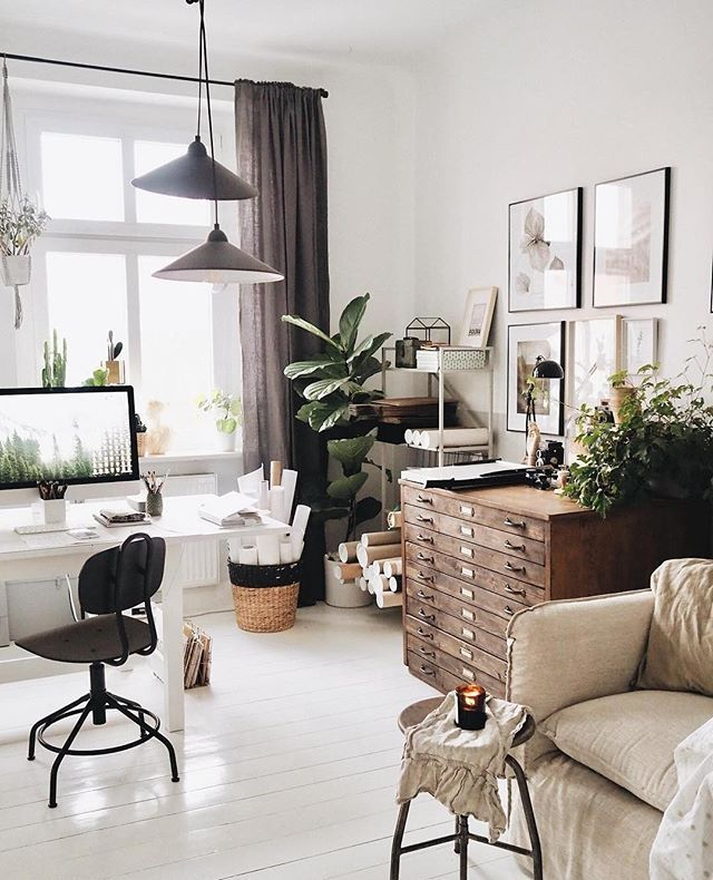 Scandinavian Homeoffice Design: Follow Us @rkthompson For The Best In Home Office Trends