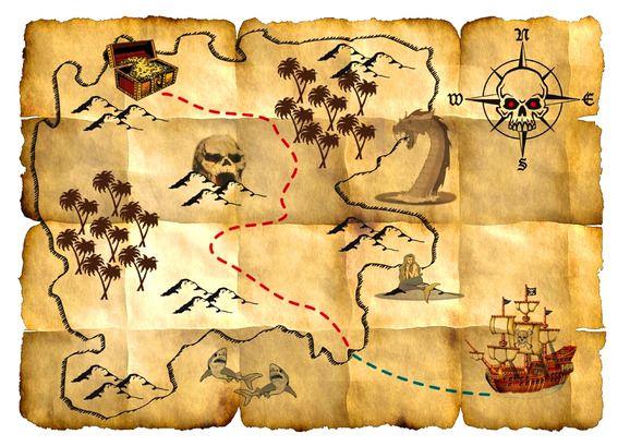 Kaart met onzichtbare inkt
