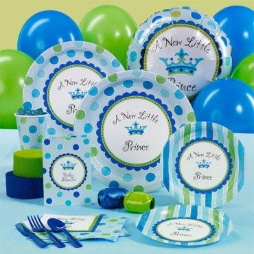 The fun designs of A New Little Prince Baby Shower Standard Party Pack are sure to brighten any baby shower. With A New Little Prince Baby Shower Standard Party Pack, you are sure to cherish this celebration rather than worry over whether you stocked up on enough supplies.