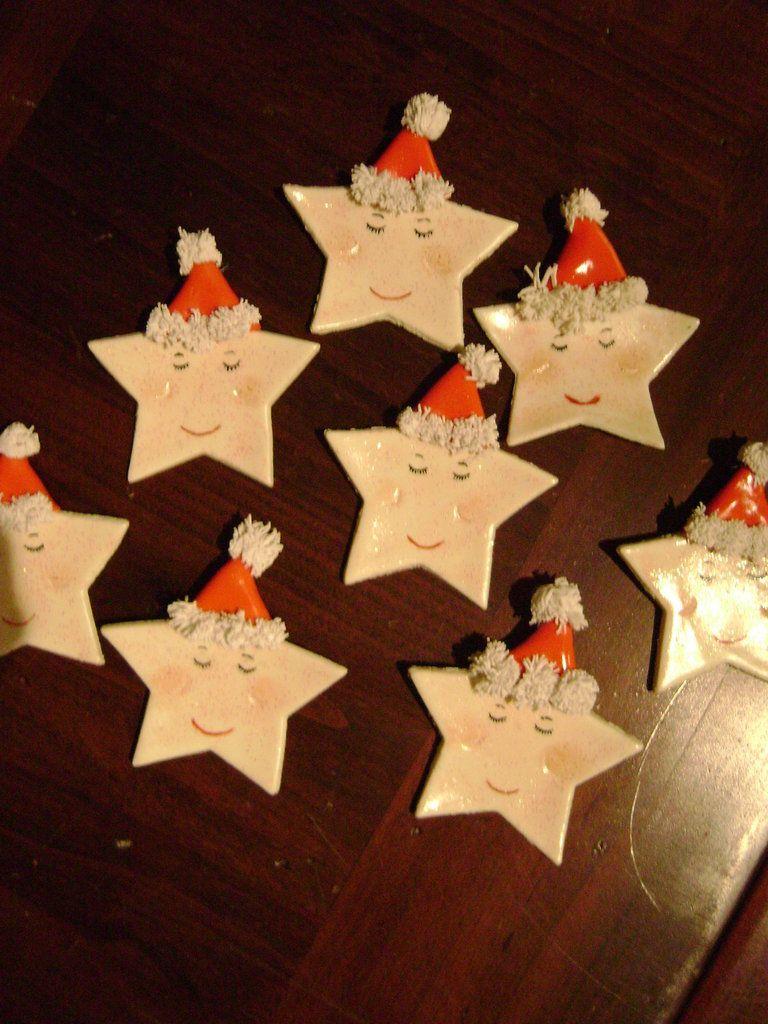 Lavoretti Di Natale Con La Pasta Di Mais.Segnaposto Stelle In Pasta Di Mais Per Natale Segnaposto Natale Fai Da Te Facile Idee Di Natale Natale