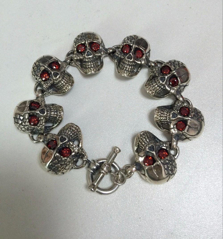 Beier sterling silver bracelet new arrival skull high quality