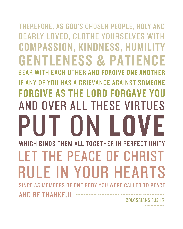 Colossians 3 12 15