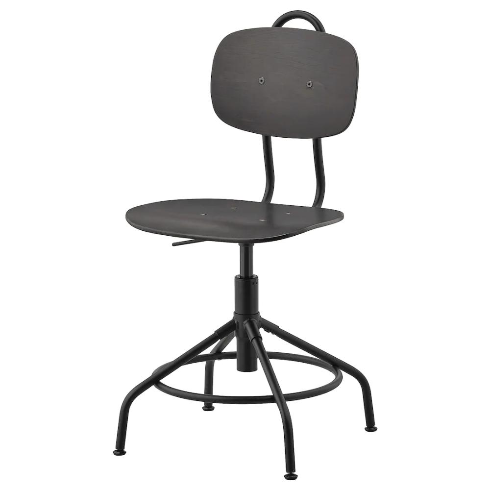KULLABERG Swivel chair, black IKEA in 2020 Swivel