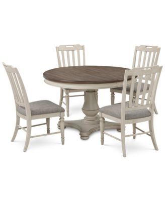 Barclay Expandable Round Pedestal Dining 7 Pc Set Round Dining