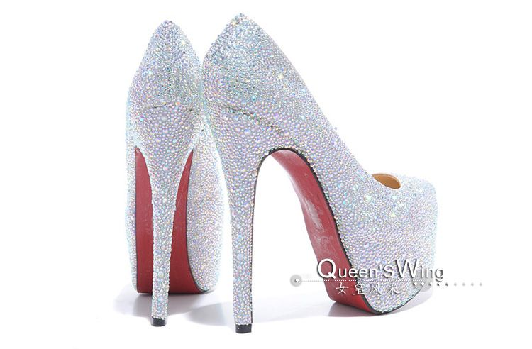 020d1c4b73c6 Christian Louboutin Daffodile Aurora Boreale Pumps Half Off Discount. Find  this Pin and more on