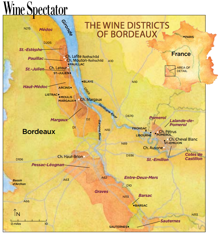 The Wine Districts of Bordeaux
