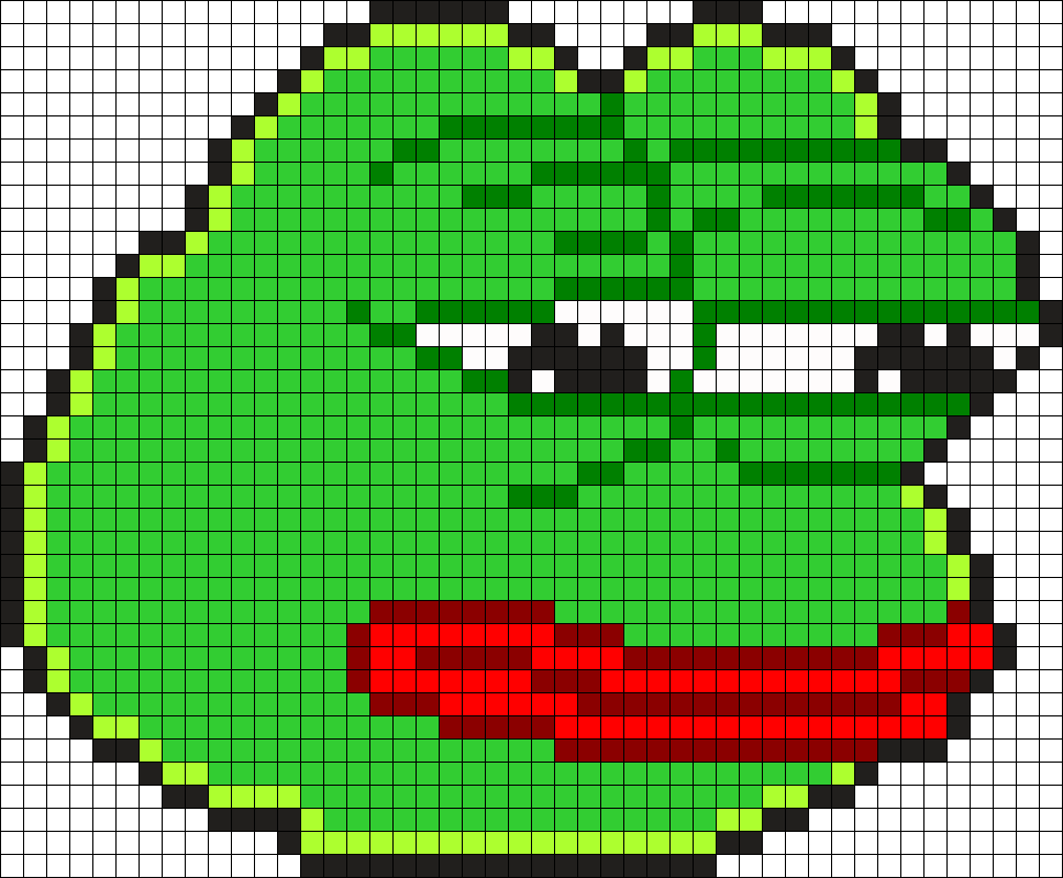 Pepe The Frog Perler Bead Pattern Bead Sprites Characters Fuse
